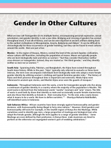 Gender in Other Cultures panel